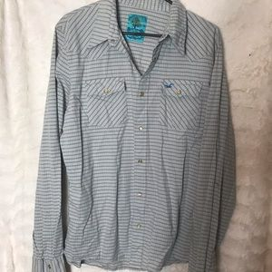 Men's Hollister Western Shirt with Pearl Snaps